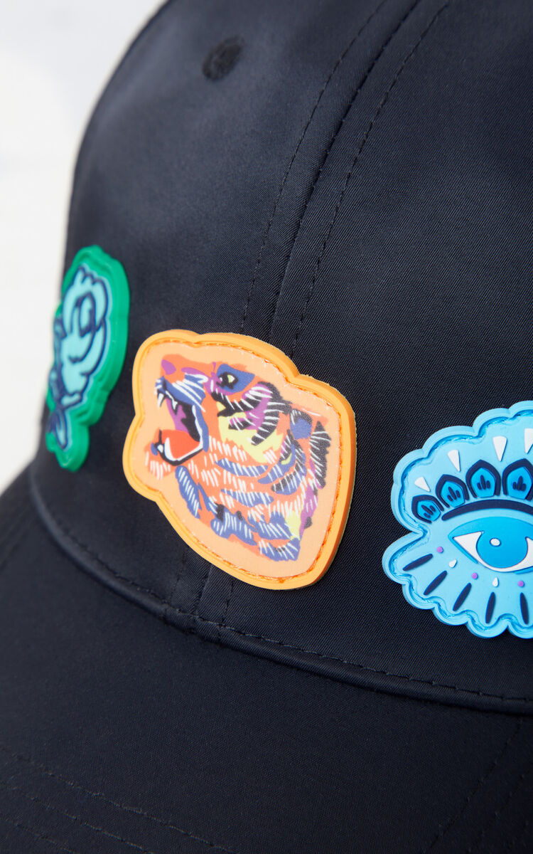 BLACK Multi-icon cap 'Go Tigers Capsule' for women KENZO