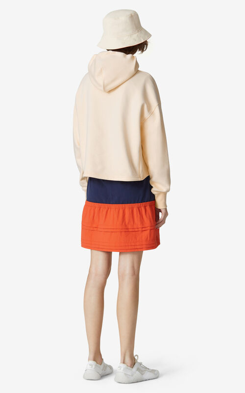 BLUSH KENZO Sport 'Blocked K' hooded sweatshirt for women