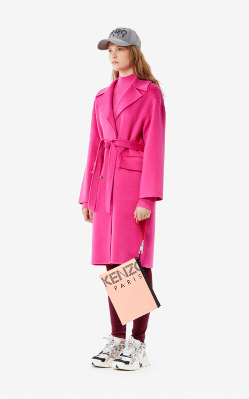 BEGONIA Wool and cashmere coat for women KENZO