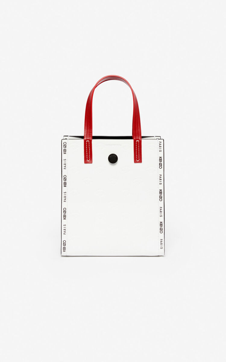 WHITE Small Blink multi-Eye tote bag for unisex KENZO
