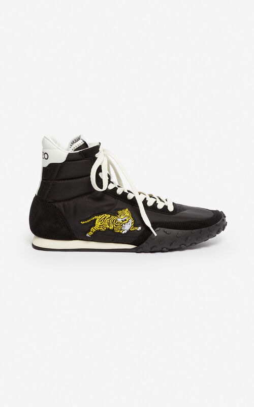 BLACK KENZO MOVE high-top sneakers for men