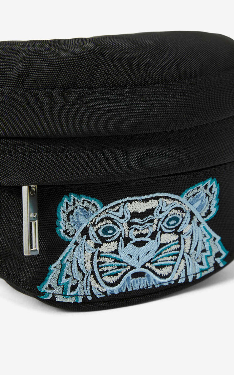 BLACK Kampus Tiger small bumbag for unisex KENZO
