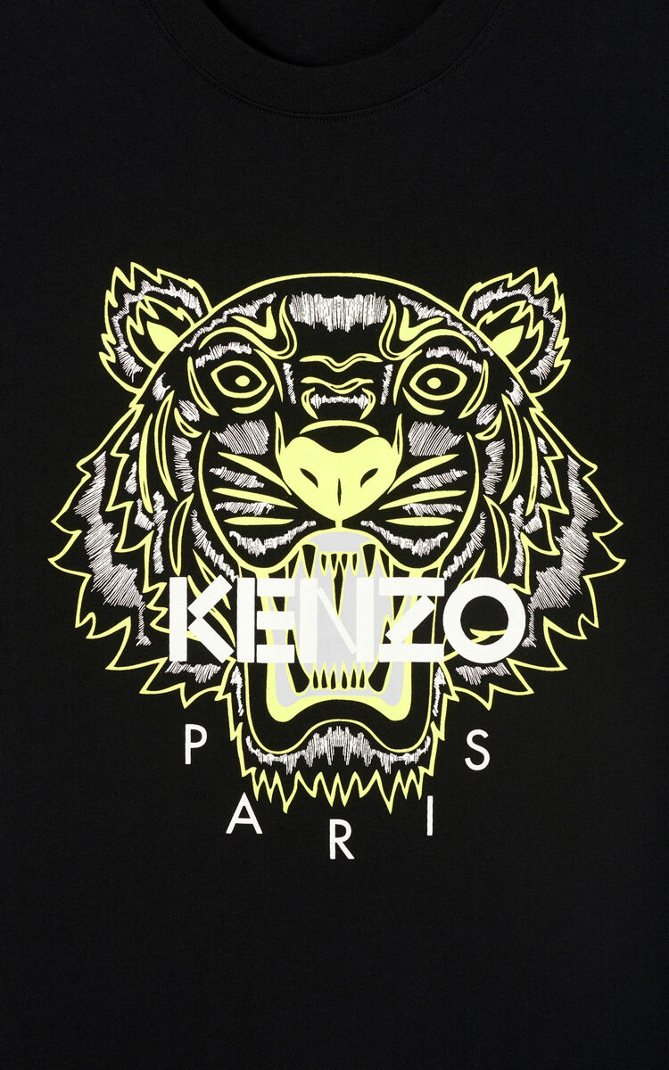 BLACK Tiger T-shirt 'High Summer Capsule collection' for men KENZO