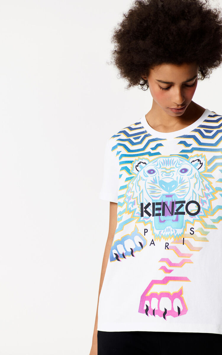 957d9ddce Shoptagr | Geo Tiger X Rainbow' T Shirt by Kenzo