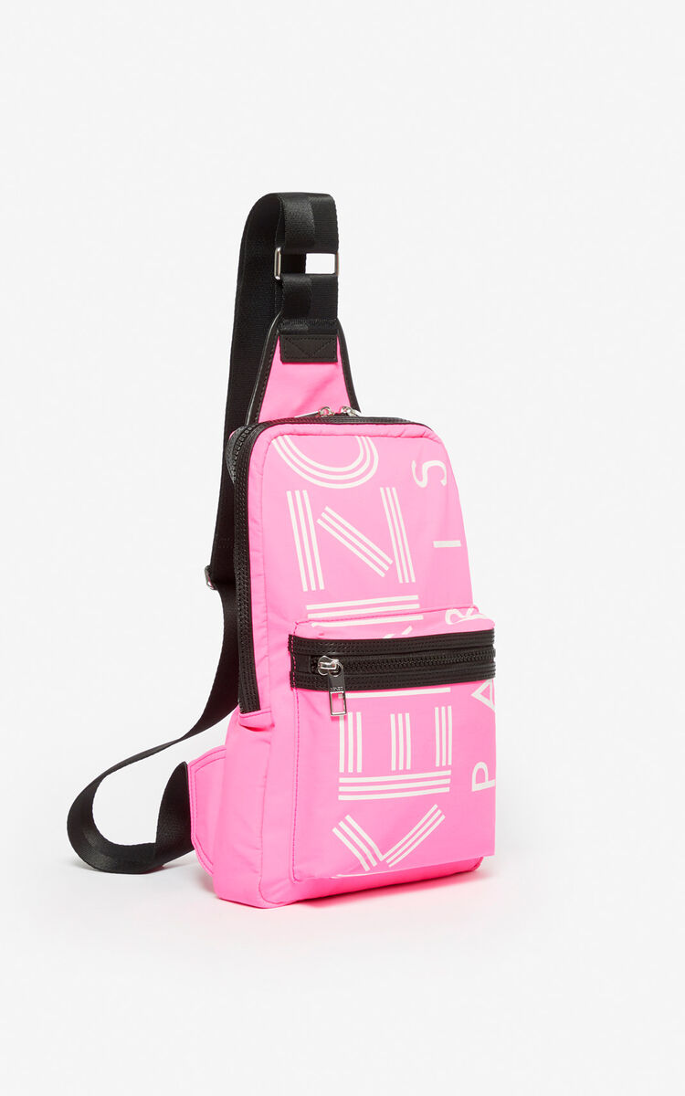 DEEP FUSCHIA 'Crew' KENZO logo cross-body bag for women