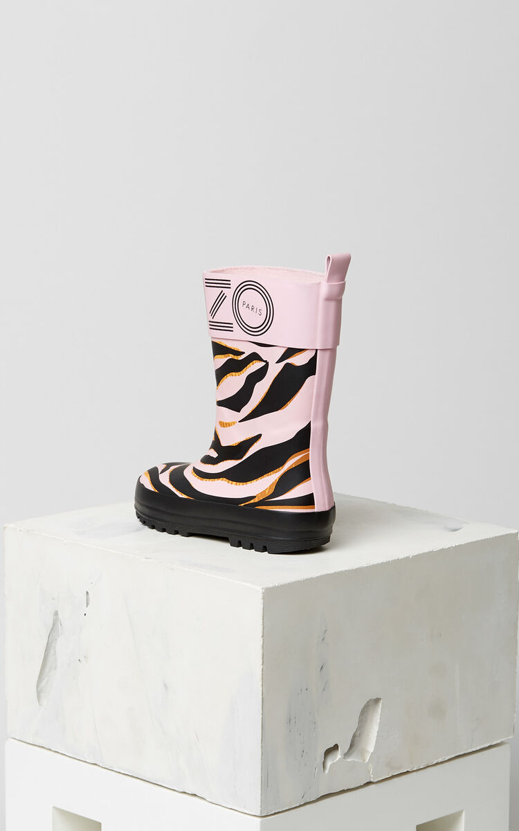 FADED PINK 'Tiger Stripes' Rain Boots for women KENZO