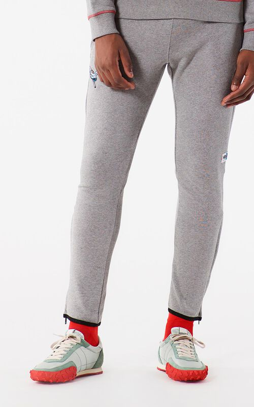DOVE GREY Pegged sweatpants for men KENZO