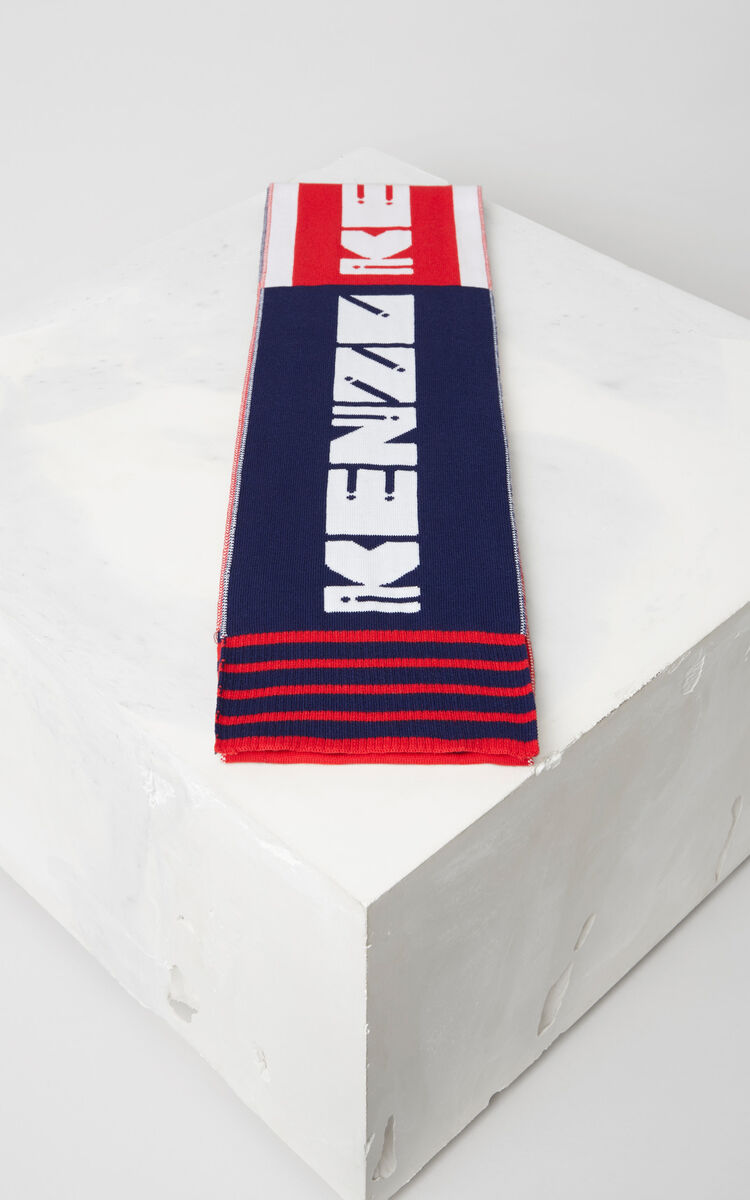 MIDNIGHT BLUE 'KENZO Team' Scarf for men