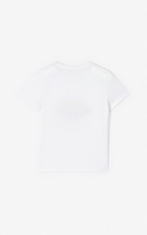 WHITE 'Cali Party' Eye T-shirt for unisex KENZO