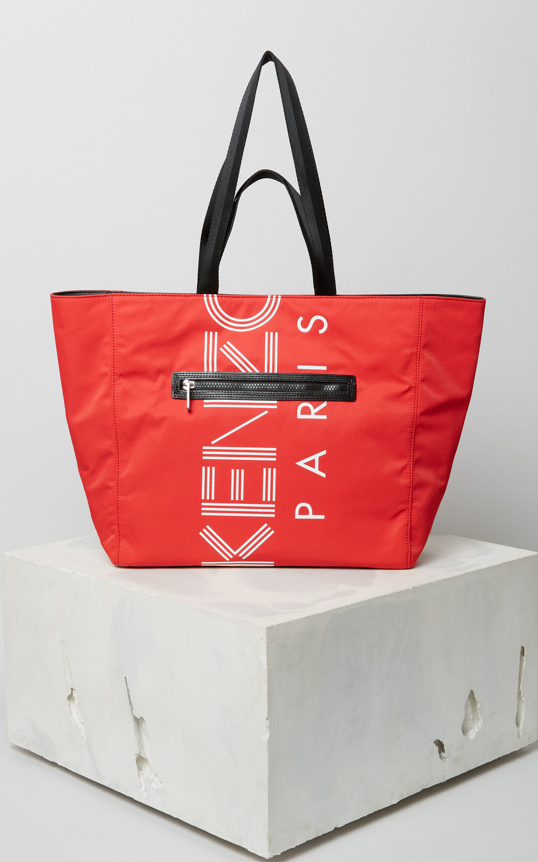MEDIUM RED KENZO Logo tote bag for unisex