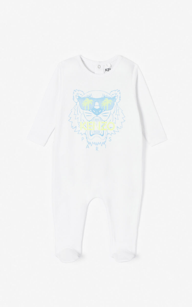 WHITE 'Cali Party' sleepsuit for men KENZO