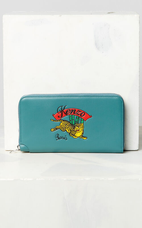 DUCK BLUE 'Jumping Tiger' Wallet for unisex KENZO