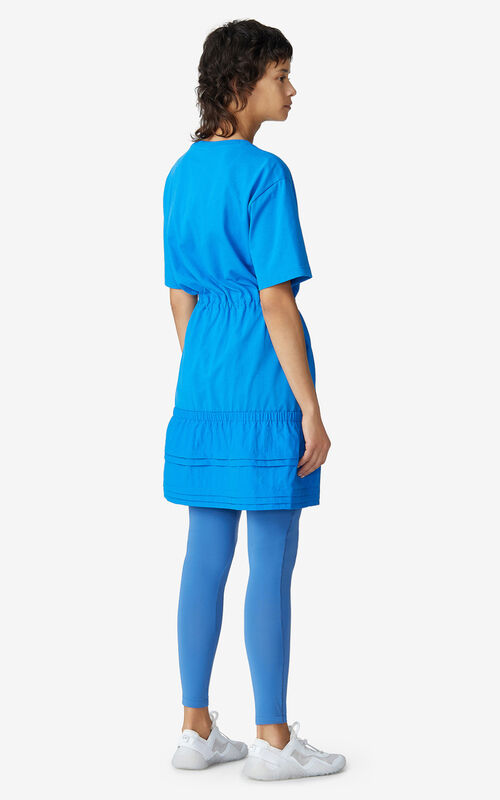 CYAN KENZO Sport 'Little X' dual-material dress for women