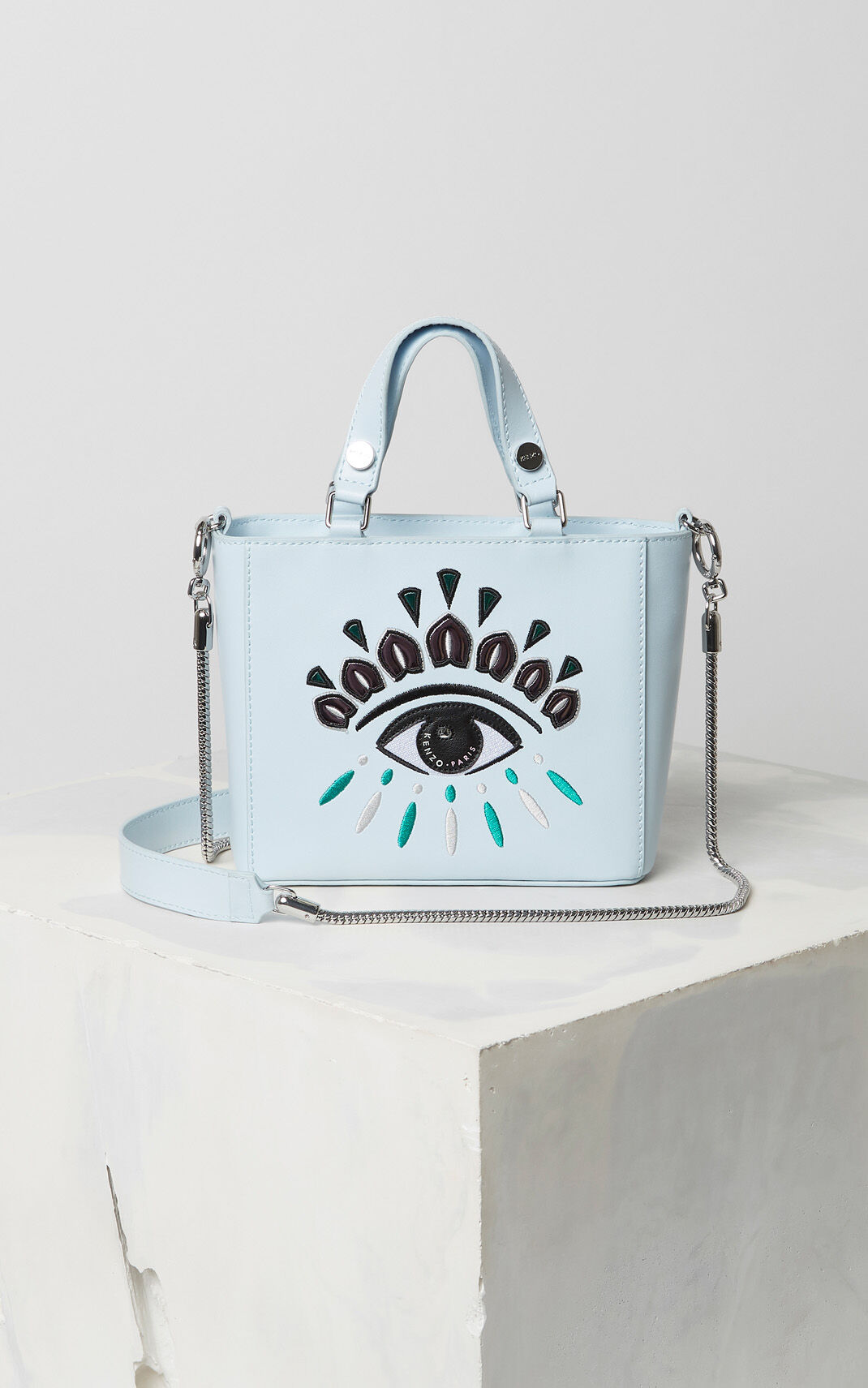 SKY BLUE Small Eye tote bag for unisex KENZO