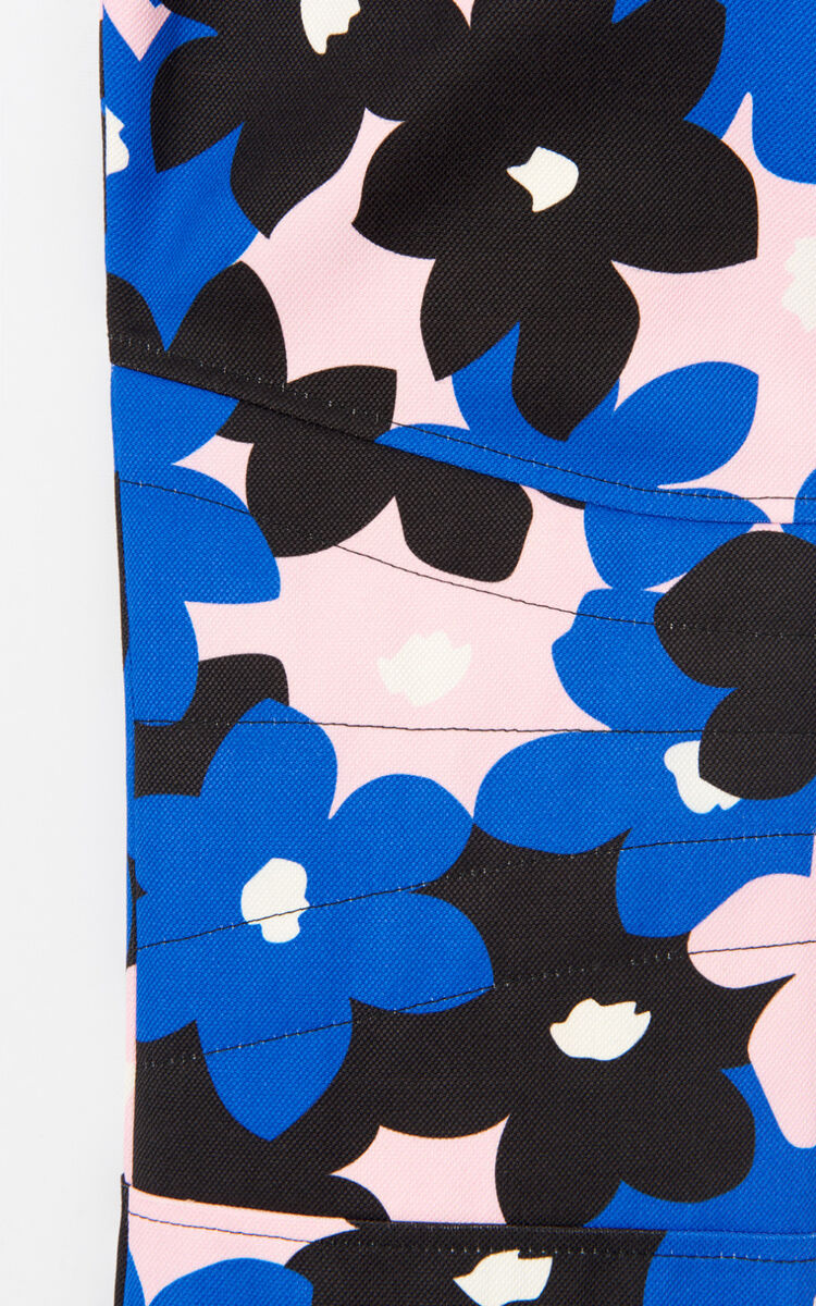 FRENCH BLUE 'Jackie Flowers' flared trousers for women KENZO