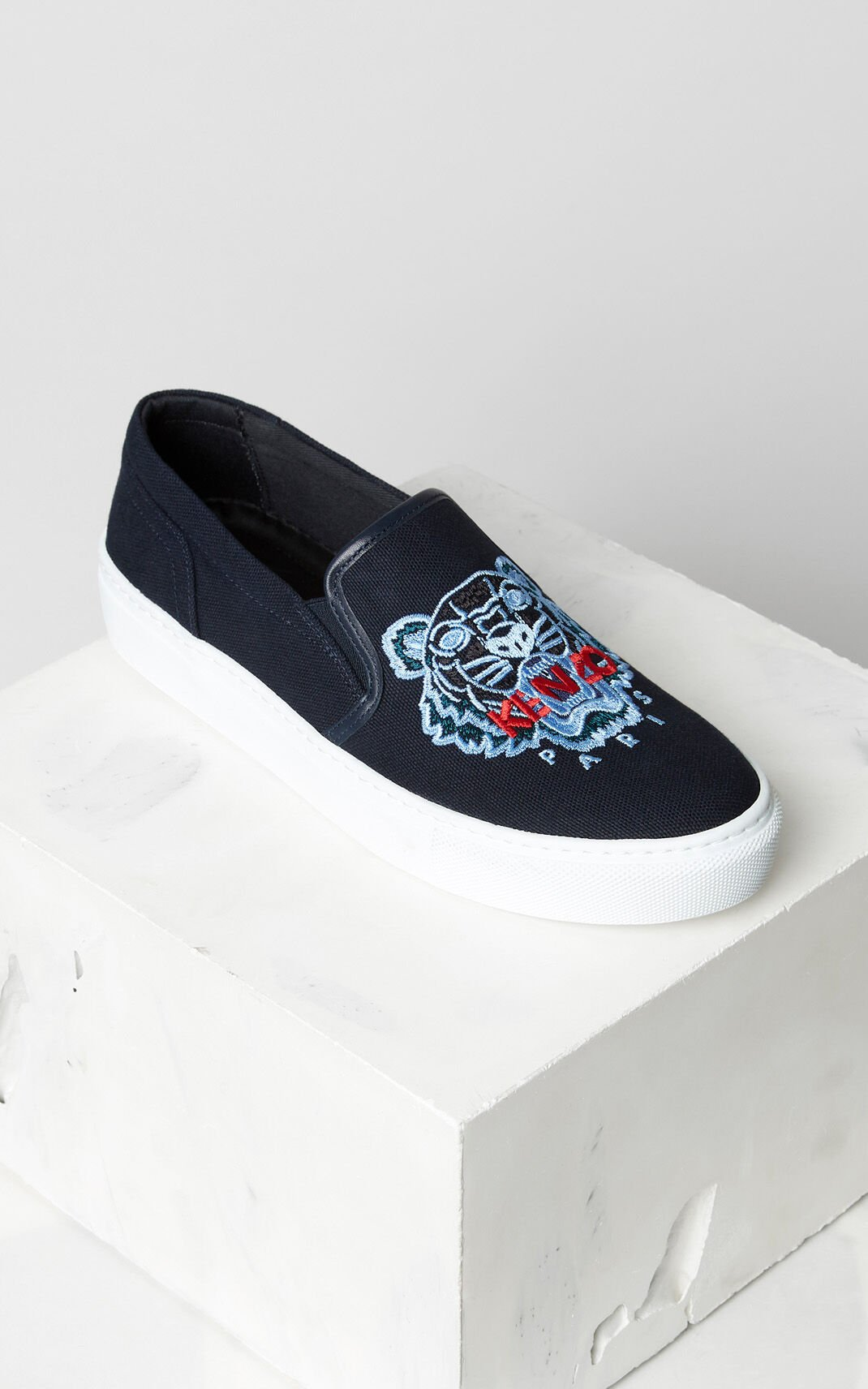 NAVY BLUE Slip-on K-Skate Tiger shoes for women KENZO