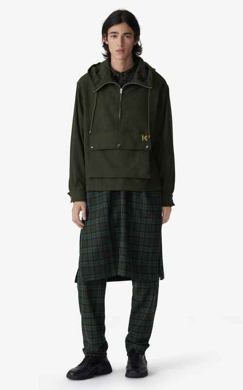 KHAKI Zip-up anorak for men KENZO