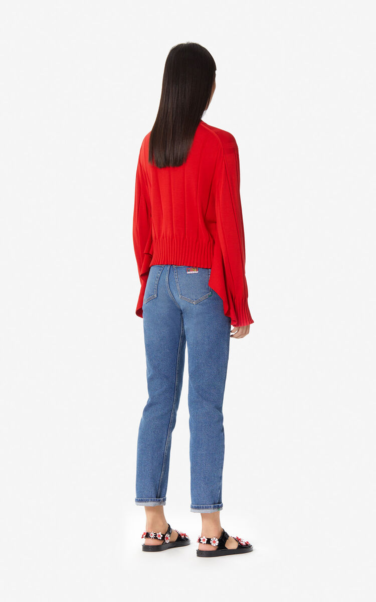 MEDIUM RED Ruffled jumper for women KENZO