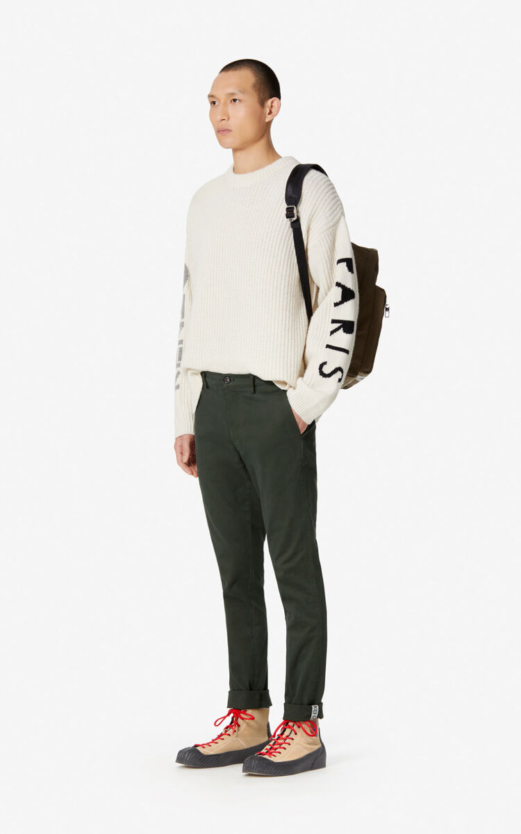 PINE Slim-fit rolled-cuff chinos for women KENZO