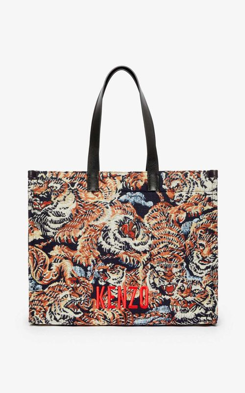 MULTICOLOR Jungle 'Flying Tiger' tote bag for unisex KENZO