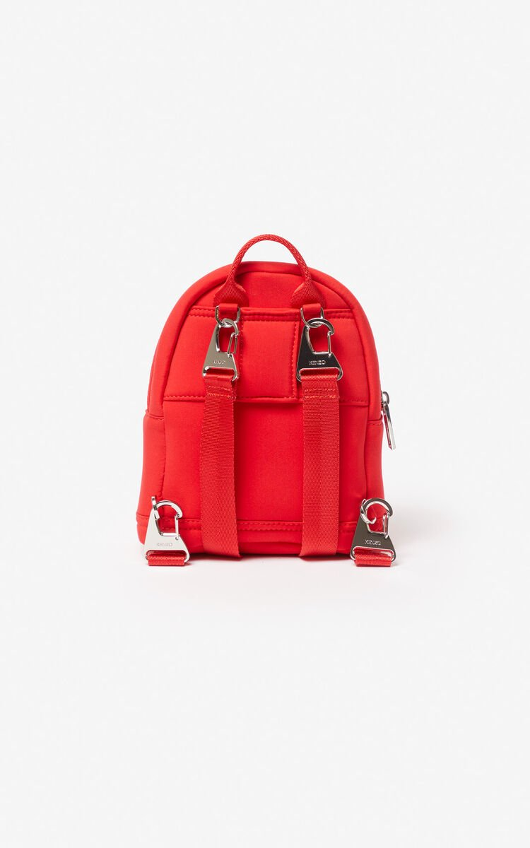 MEDIUM RED Mini Neoprene Tiger Backpack for women KENZO
