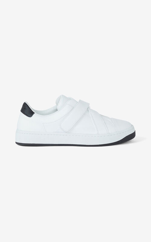 WHITE KENZO Kourt leather sneakers for unisex