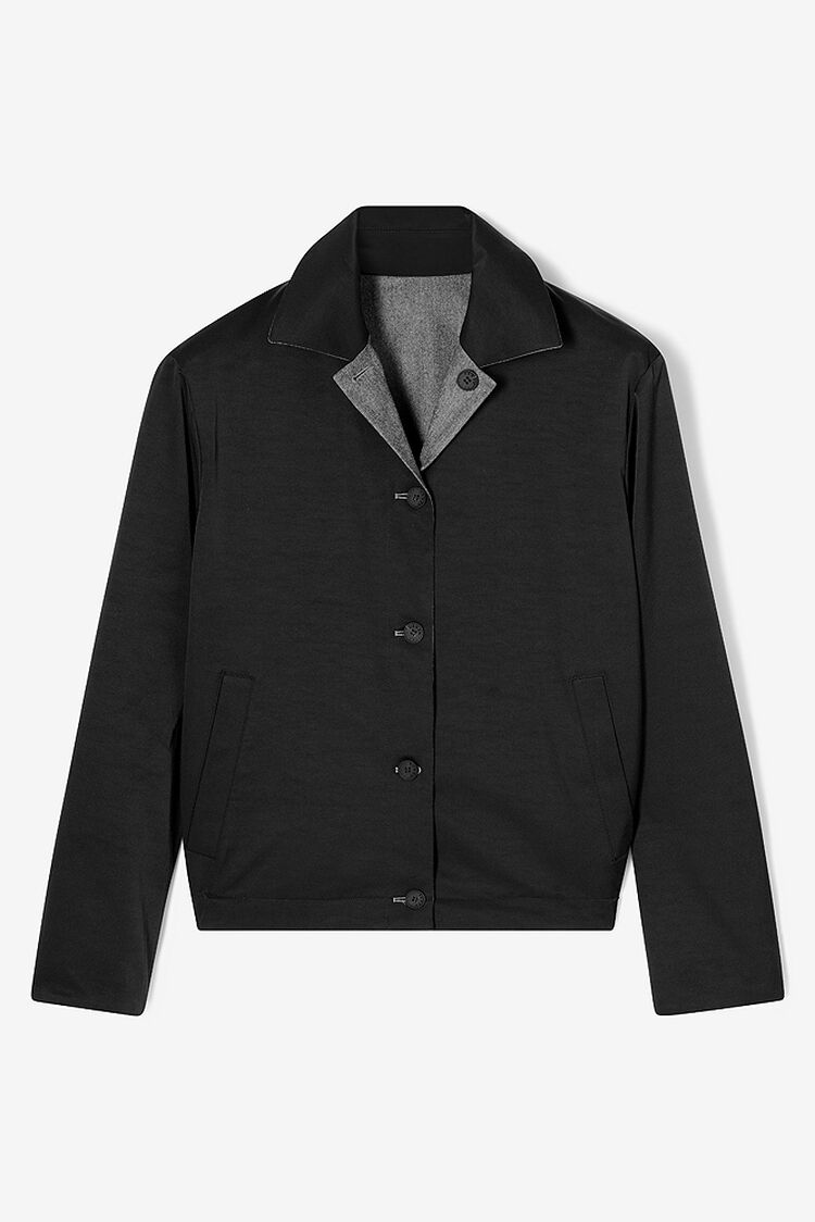 DARK GREY Reversible flannel jacket for men KENZO