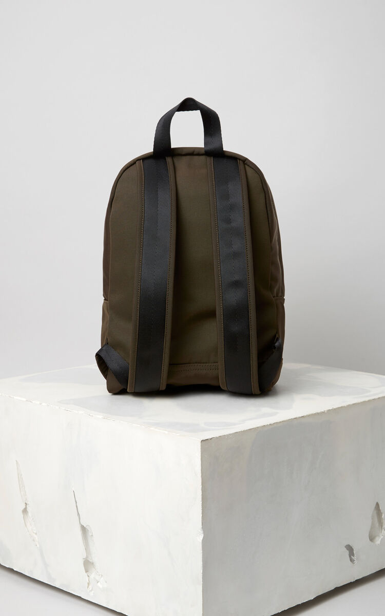 DARK KHAKI Medium Tiger Canvas backpack for unisex KENZO