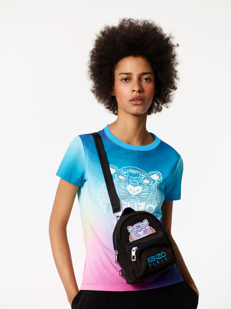 Mini  Rainbow  Backpack, BLACK, KENZO