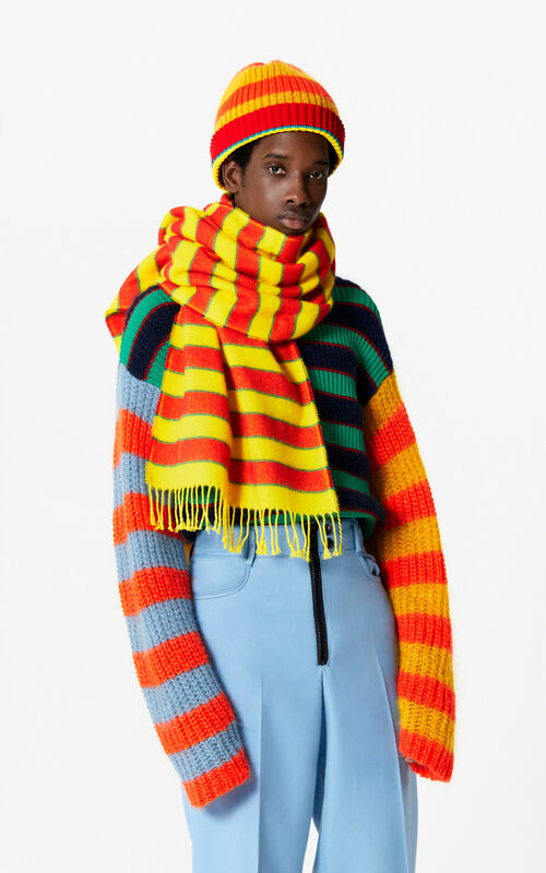 LEMON Striped woollen scarf for women KENZO