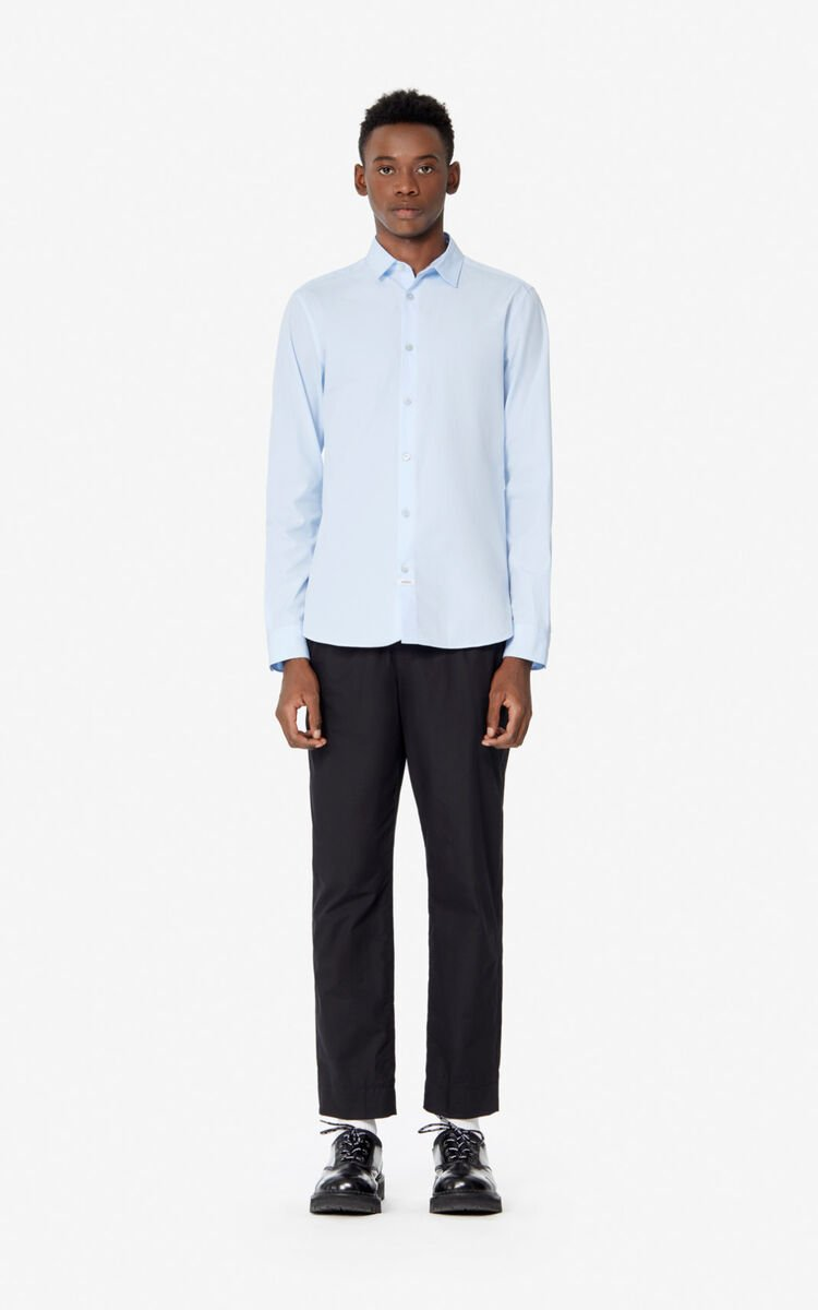 LIGHT BLUE KENZO Paris slim shirt for men