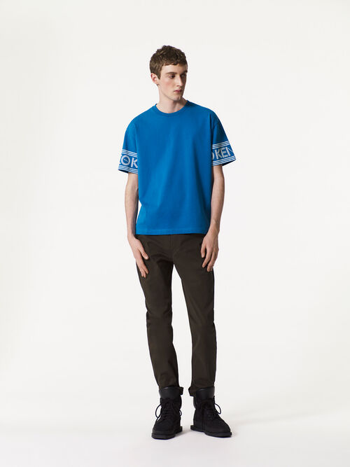 DUCK BLUE KENZO Logo T-shirt for men