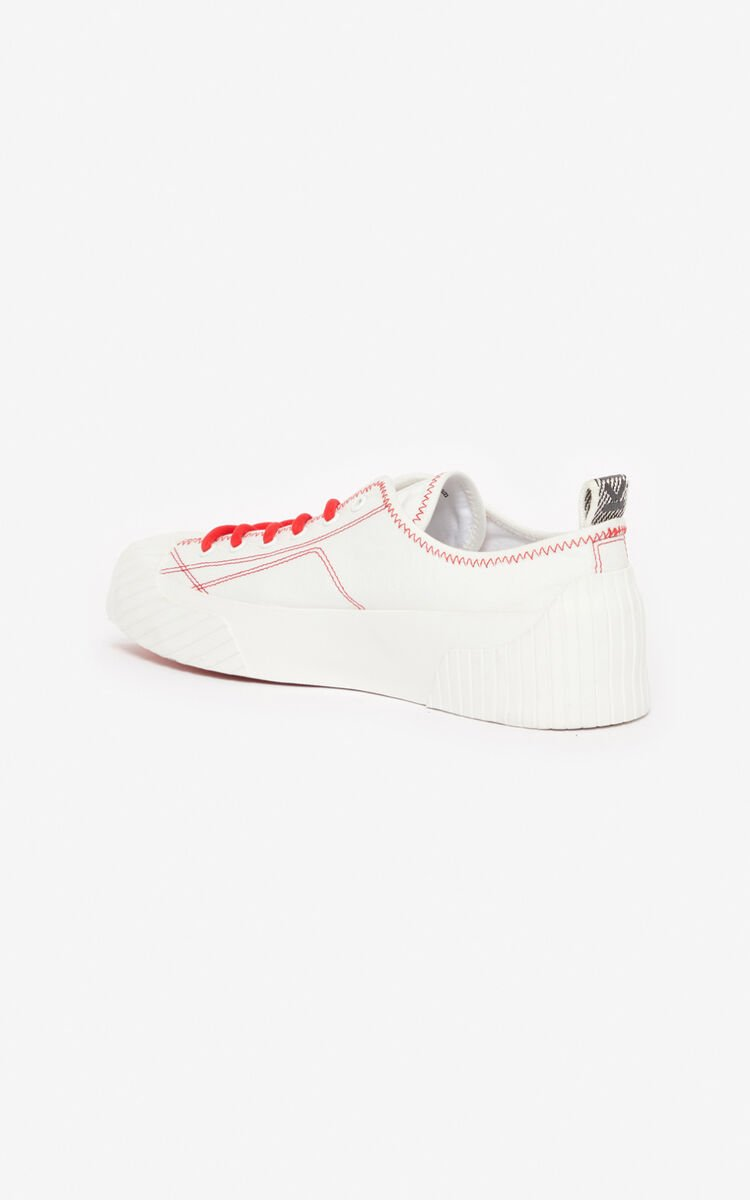 WHITE Volkano sneakers for unisex KENZO