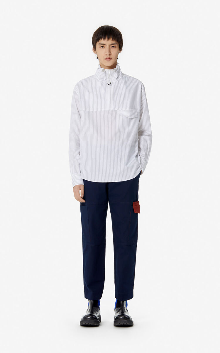 WHITE 'KENZO Mountain' striped shirt for women