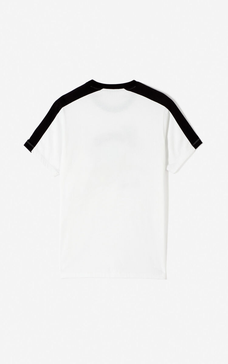 WHITE 'Bamboo Tiger' t-shirt for men KENZO