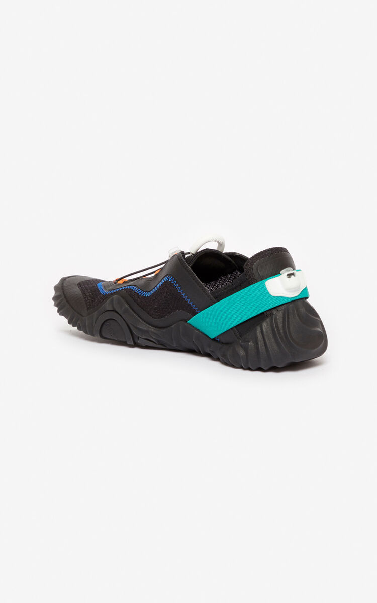 BLACK Wave sneakers for unisex KENZO