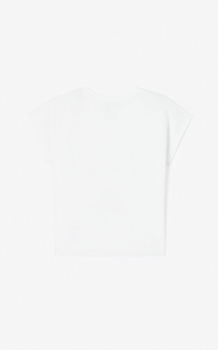 WHITE 'Phoenix Celebration' T-shirt for women KENZO