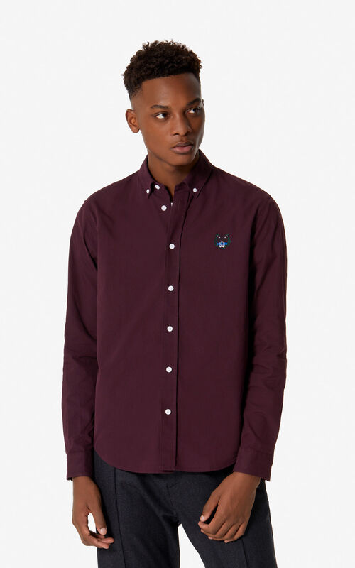 BORDEAUX Tiger shirt for men KENZO