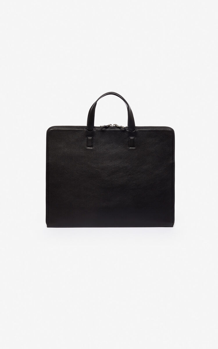 BLACK 'Jumping Tiger' briefcase for women KENZO