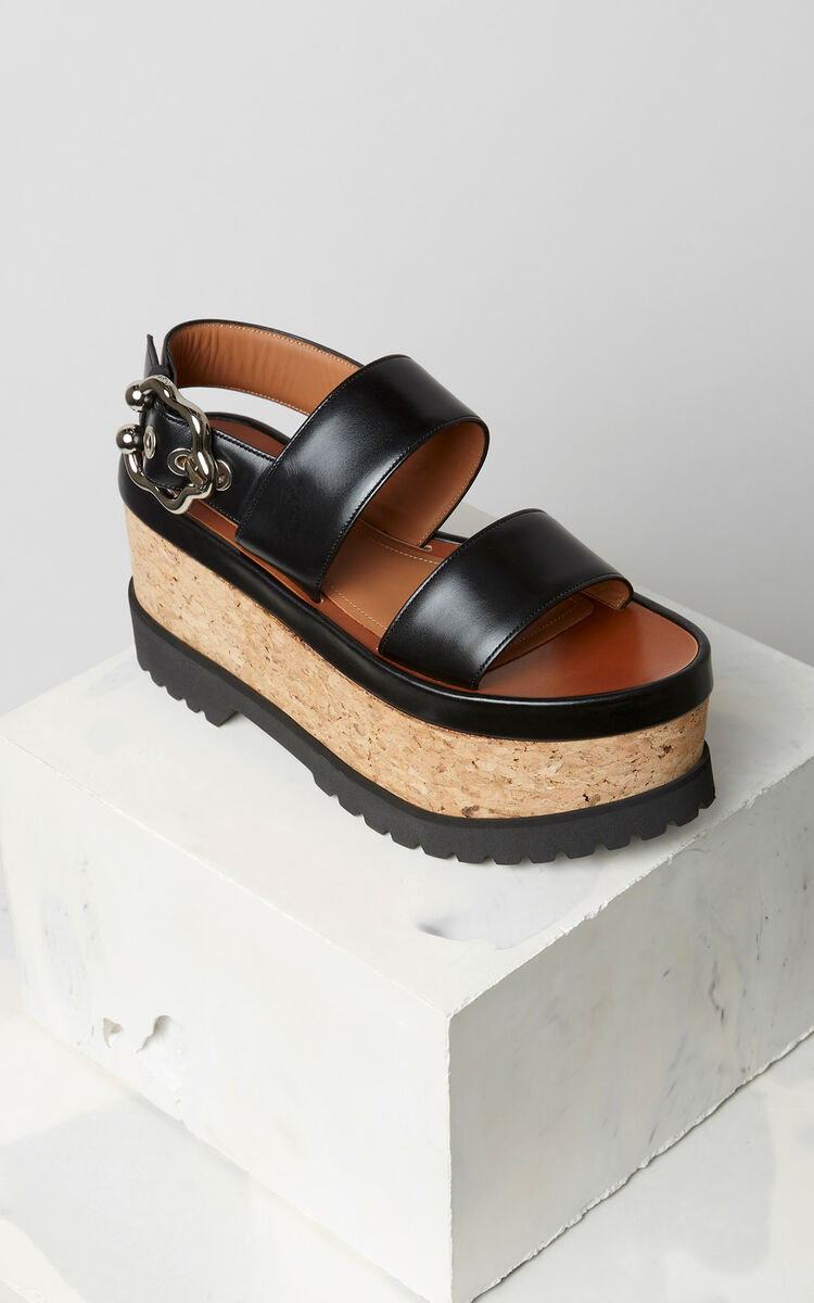 BLACK Jade platform sandals for women KENZO