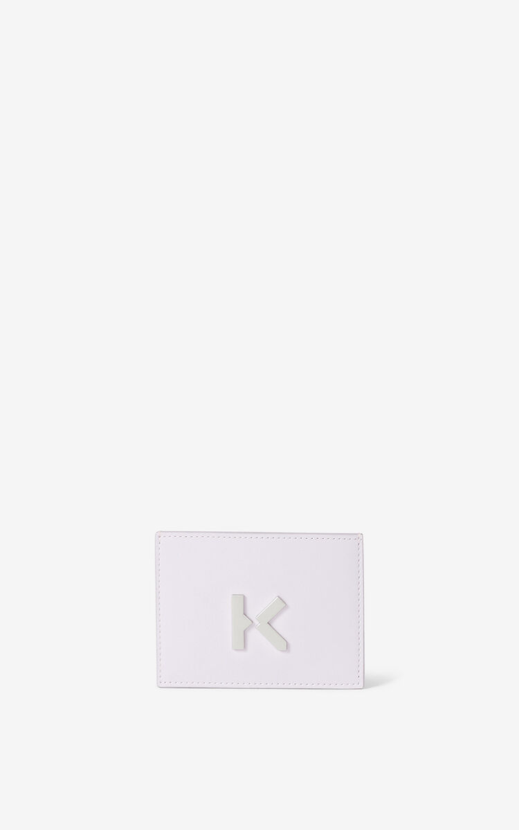 WISTERIA KENZO K leather card holder for unisex
