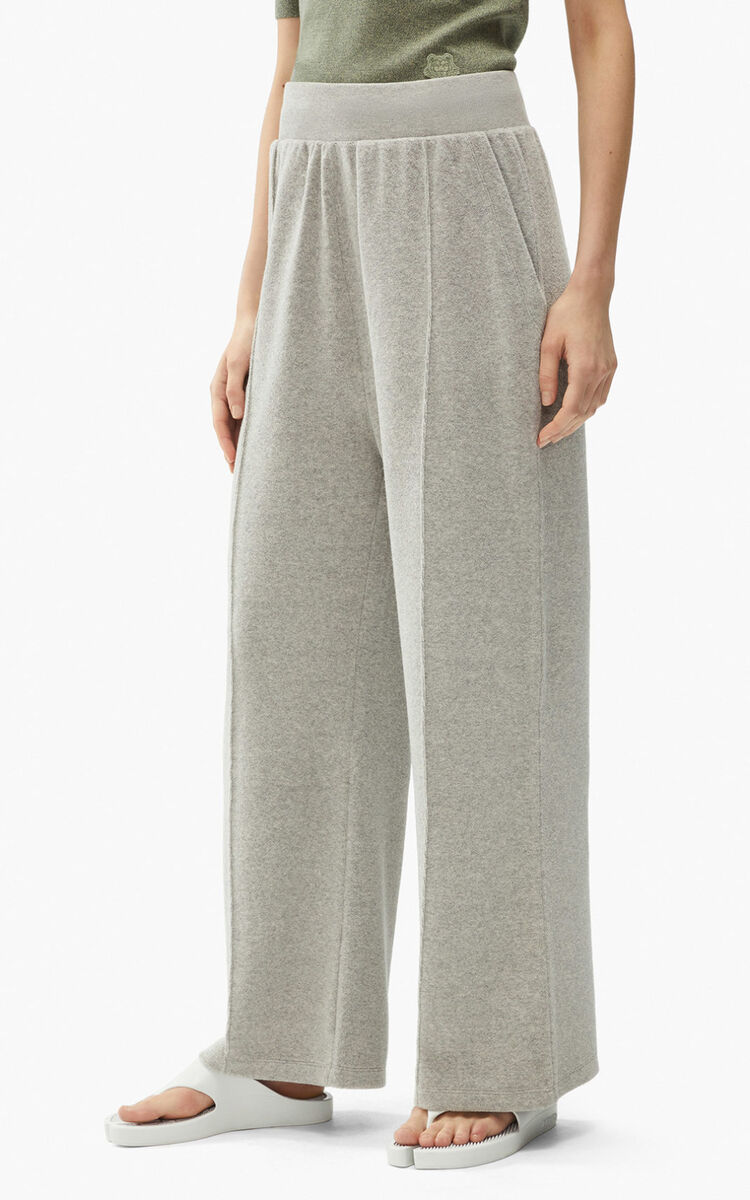 PEARL GREY Loose-fit jogging trousers for women KENZO