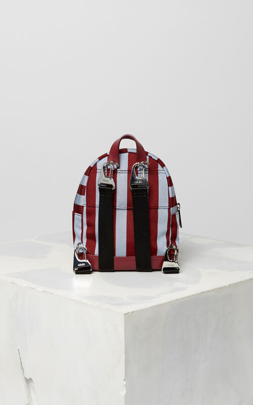 BORDEAUX Mini striped Tiger Backpack for unisex KENZO
