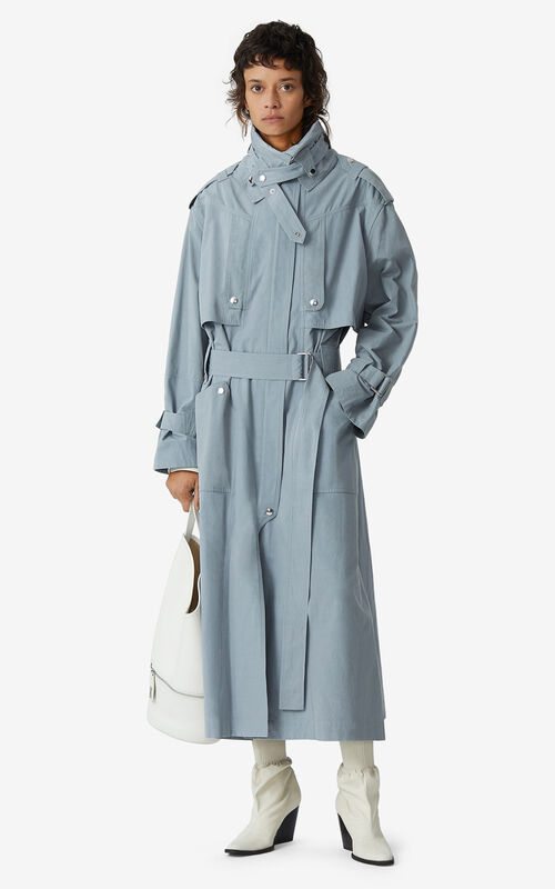 MISTY GREY Utility trench coat for women KENZO
