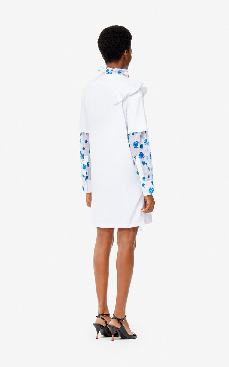 WHITE 'Flying Tiger' dress for women KENZO