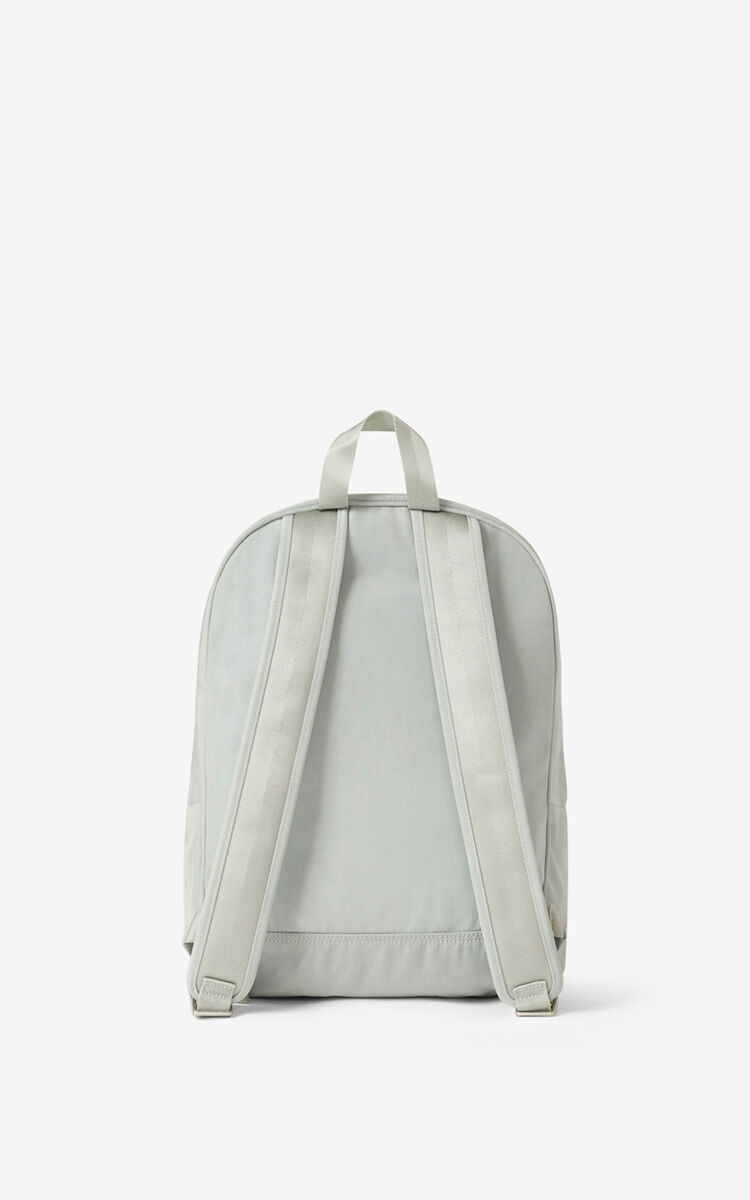 SAGE GREEN Canvas Kampus Tiger backpack  for unisex KENZO