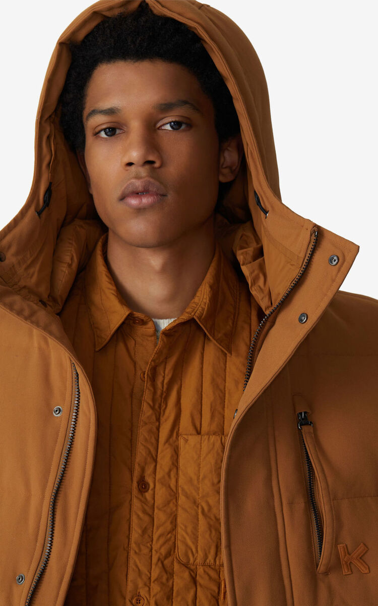 DARK CAMEL Down jacket for men KENZO