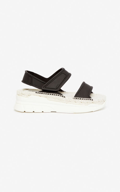 BLACK K-Lastic sandals for unisex KENZO