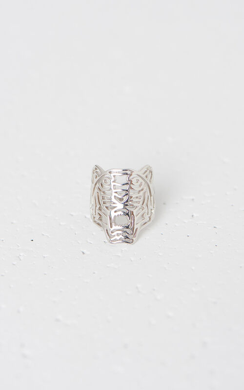 SILVER Medium Tiger Ring for unisex KENZO