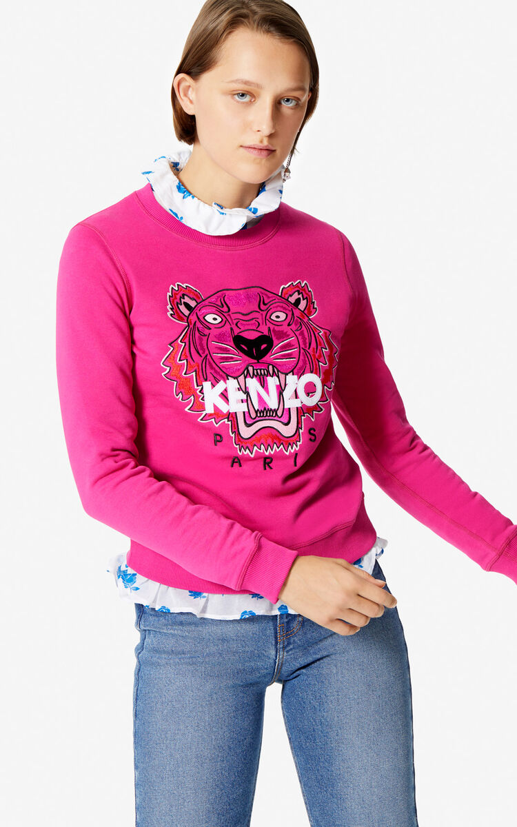 DEEP FUSCHIA Tiger sweatshirt for women KENZO